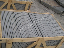 black slate tiles packing