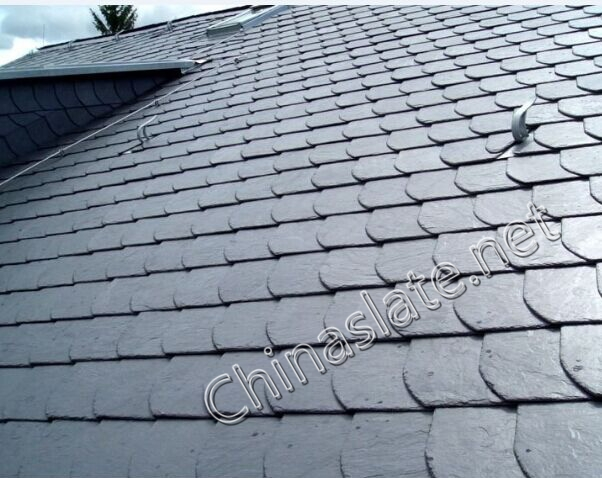 Natural Roofing Slate Black Grey Rusty And Green Color