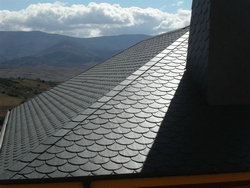 green slate roofing project