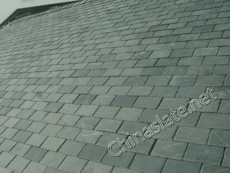 green slate top roofing tiles