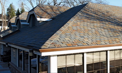 golden rust natural slate roofing top