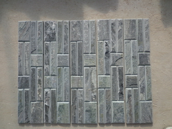Tumbled green color stone wall panel