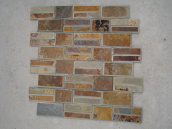 Tumbled stacked wall cladding stone