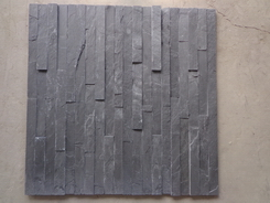 Black Slate split surface wall stone