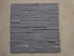 Black Slate natural split wall stone