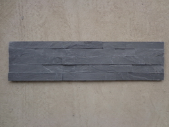 Black Slate Wall Cladding Stone 5 stripes 15*60cm