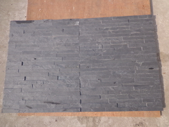 Black Slate 5 stripes Ledge stone veneer