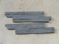 4 stripes Black Slate 10*40 Wall Stone