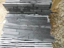 Black Slate 10*40cm,interlock wall stone