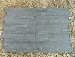 4 stripes Black Slate 10*40cm,interlock 4cm (10*36cm)