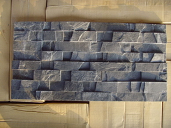 4 stripes Black Slate wall cladding stone