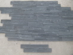 Black Slate interlock 4cm, 40*10cm wall stone