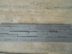 Black Slate 7 strips ledge stone