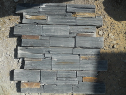 black_and rusty_slate_cement_wall_stone