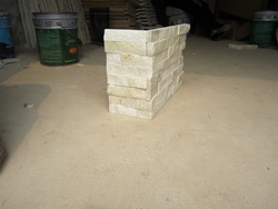 white quartzite ledge wall stone corner