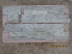 grey quartzite wall cladding stone corner