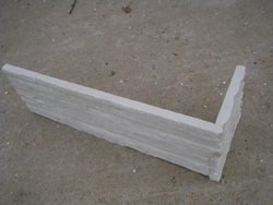 pure white quartzite corner for wall cladding