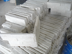 pure white quartzite stone for wall cladding