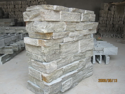 green quartzite wall corner