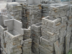 cement quartzite stone corners