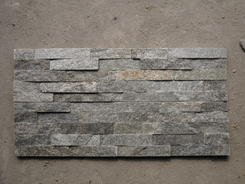 green Quartzite 4 Stripes Wall Stone