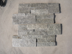 18*35cm green wall cladding stone panel