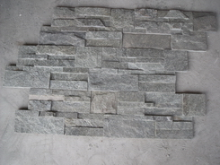 green wall cladding ledge stone panel 18*35cm