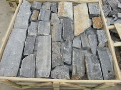 black slate loose stone wall pieces