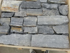 black slate wall cladding stone