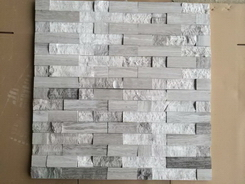 white and grey serpeggiante marble wall stone polish and natural split surface
