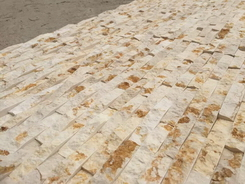 sunny beige marble wall cladding stone panel