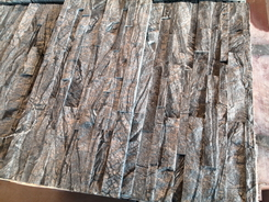 classical Black wood vein cultured wall stone panel