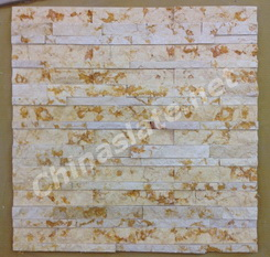Sunny Beige marble split wall cladding panel