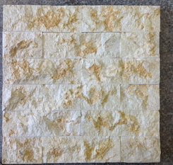 galala beige natural surface marble ledge wall stone