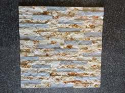 white marble and sunny beige marble wall stone