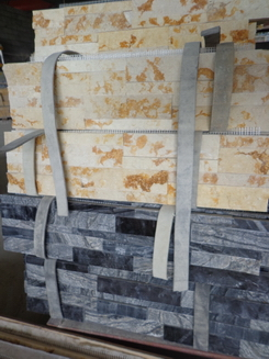 polished serpggiate marble stone wall cladding panel
