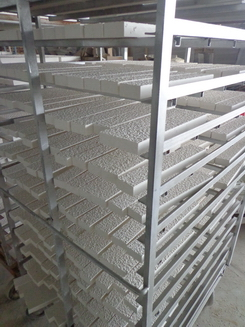 white limestone wall panel factory production