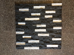 black and white marble wall ledge stone