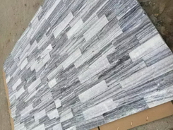 white and grey marble wall stone panel rough surface