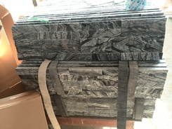 antiqua black wooden marble wall stone factory