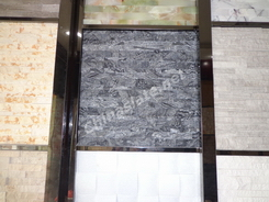 marble stacked wall stone showroom
