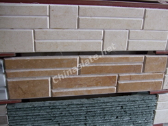 beige marble stacked wall stone supplier