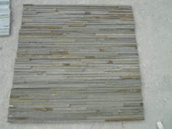 yellow slate wall stone panel