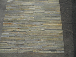 yellow slate stacked stone veneer