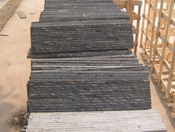 black quartzite ledge wall stone
