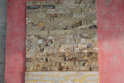 dust yellow grain sandstone cultured stone veneer