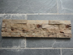 brown ledge wall stone