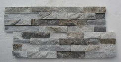 light grey quartzite stacked stone