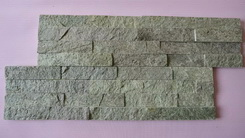 green ledge wall stone brick