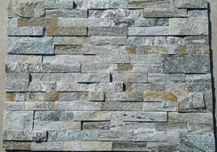 green and grey natual quartzite stone ledge wall stone
